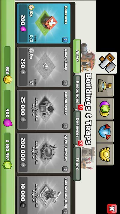 screenshot Clash of clans unlimited gem